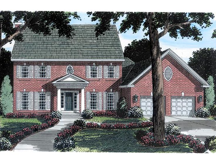 Colonial House Design, 047H-0015