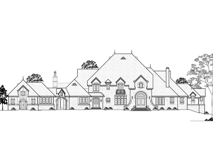 Euroepan House Plan, 055H-0011
