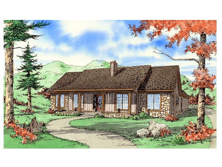 Country House Plan, 009H-0015