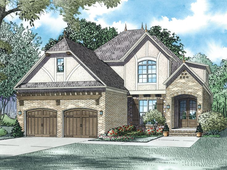 Tudor House Plan, 025H-0288