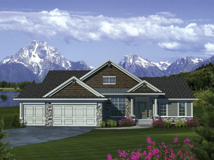 Ranch Home Design, 020H-0300