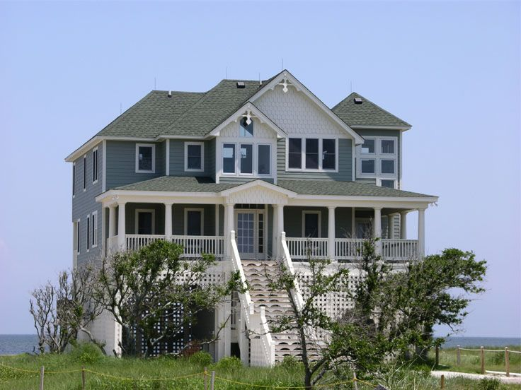 beach coastal house plan 041h 0018 - Beach Home Plans