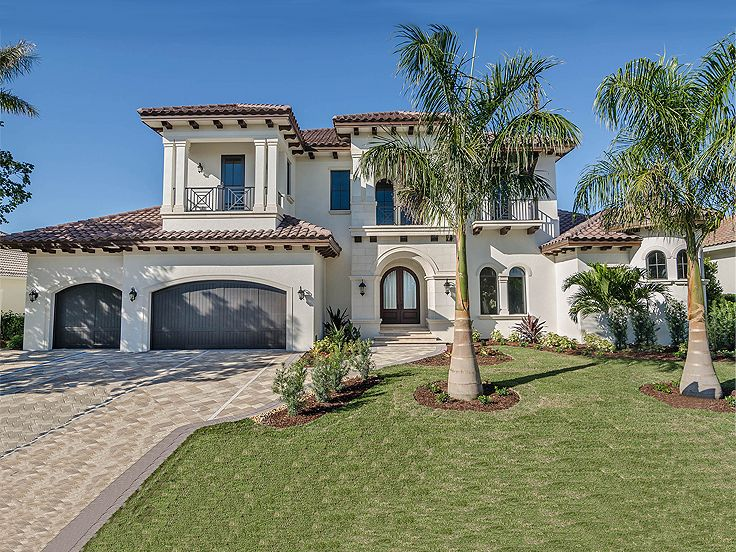 Mediterranean home plans premier luxury mediterranean for Mediterranean house plans with photos
