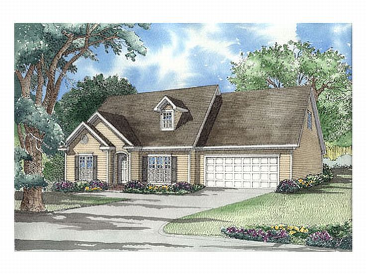 Cape Cod House Plan, 025H-0070