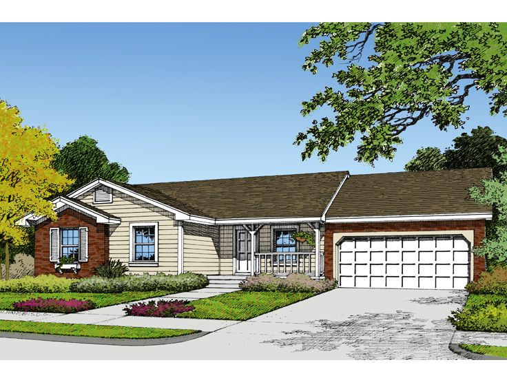 Ranch House Plan, 043H-0009