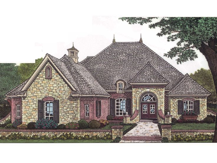 European House Plan, 002H-0045