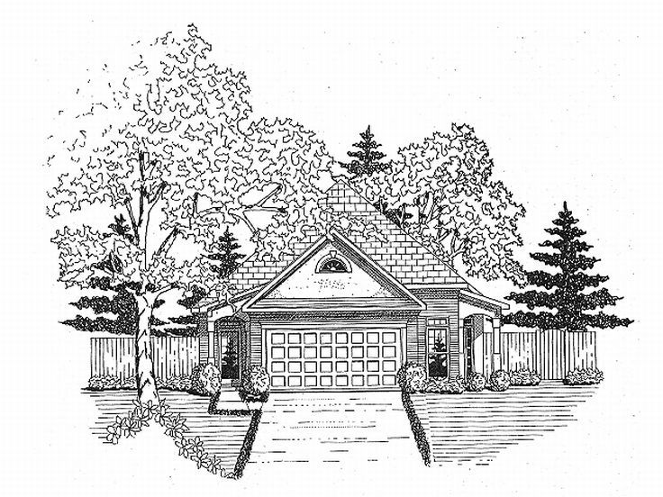 Narrow Lot House Plan, 019H-0029