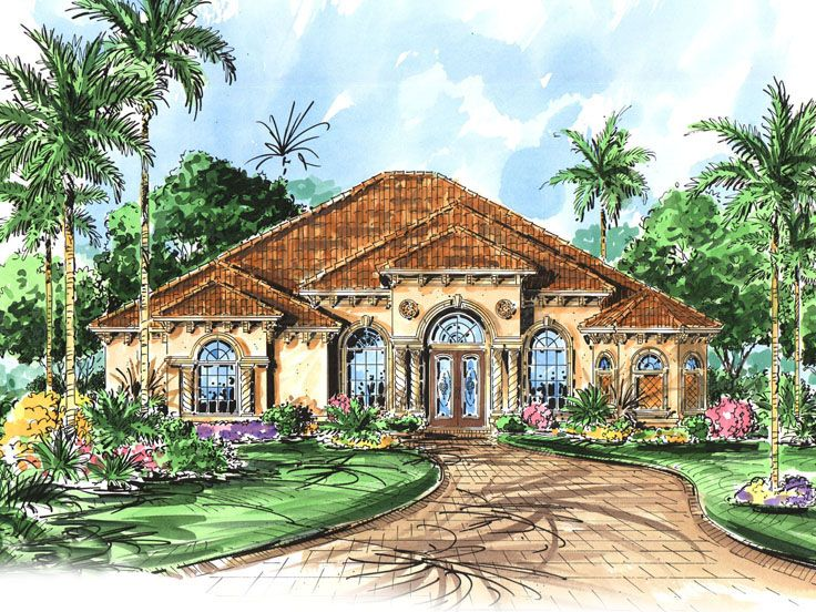 Plan 040h 0051 find unique house plans home plans and for Large mediterranean house plans