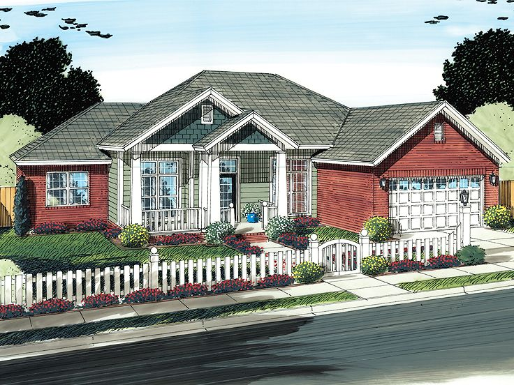 Ranch House Plan, 059H-0133