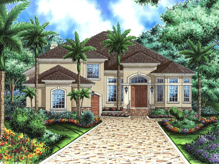 Stucco House Plan, 040H-0024