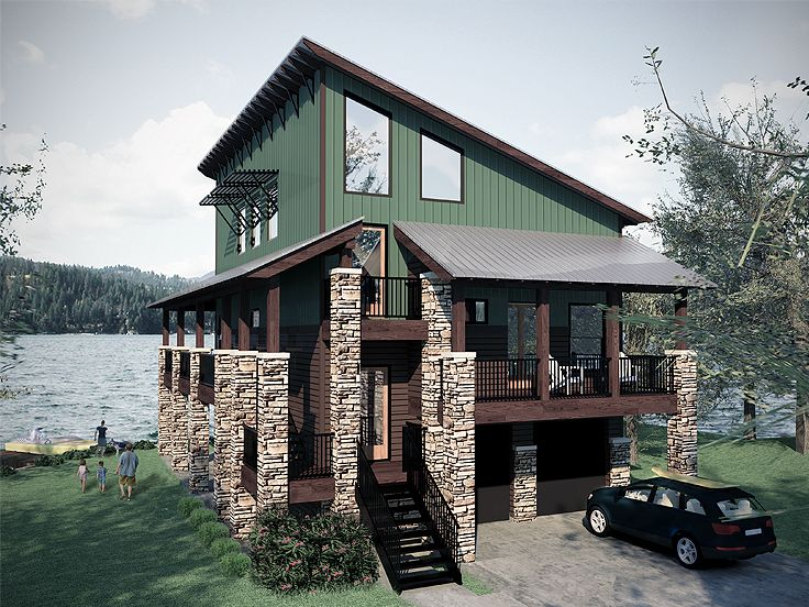Plan 036h 0056 find unique house plans home plans and for Waterfront house floor plans