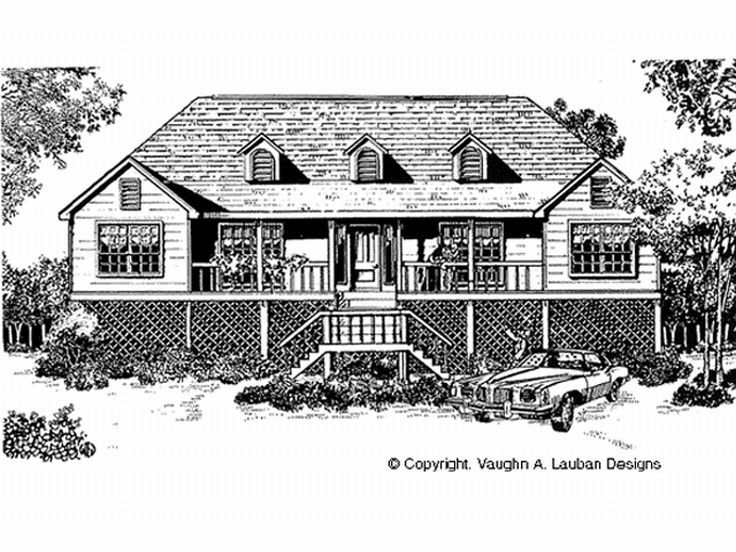Waterfront House Plan, 004H-0095