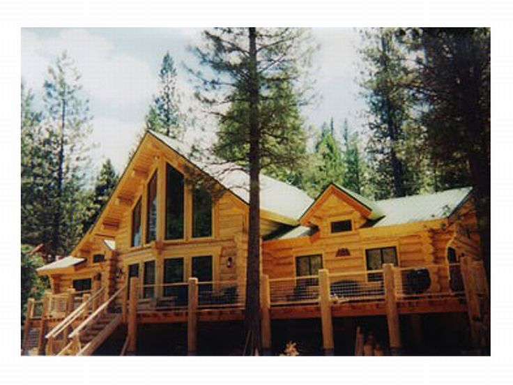 Log Home Plan, Rear, 012L-0012