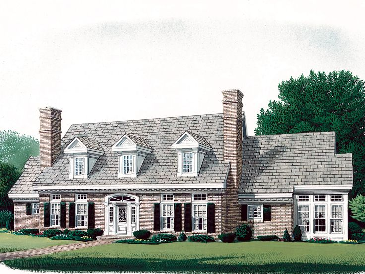 Cape cod house plans cape cod house plan with 3 bedrooms for Modified cape cod house plans