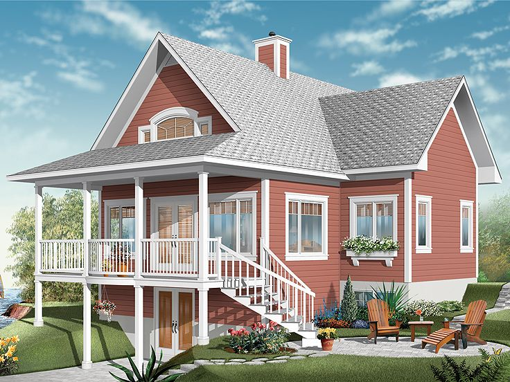 Waterfront Home Plan, 027H-0224