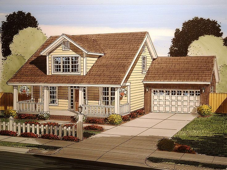 Bungalow Home Plan, 059H-0150