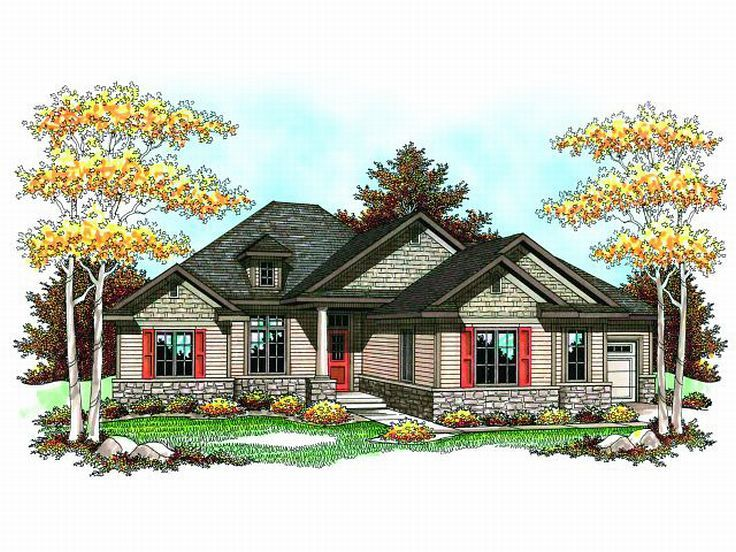 Ranch Home Plan, 020H-0170