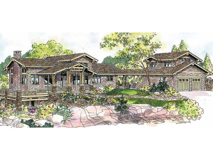 Craftsman House Plan, 051H-0124