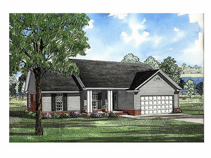 Plan 025h 0008 find unique house plans home plans and for Cheap ranch house plans
