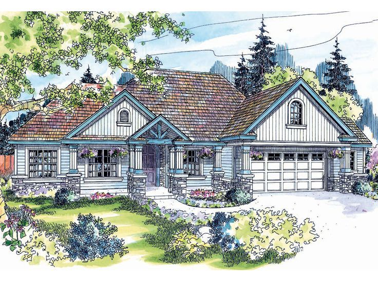 Country Craftsman Home, 051H-0044