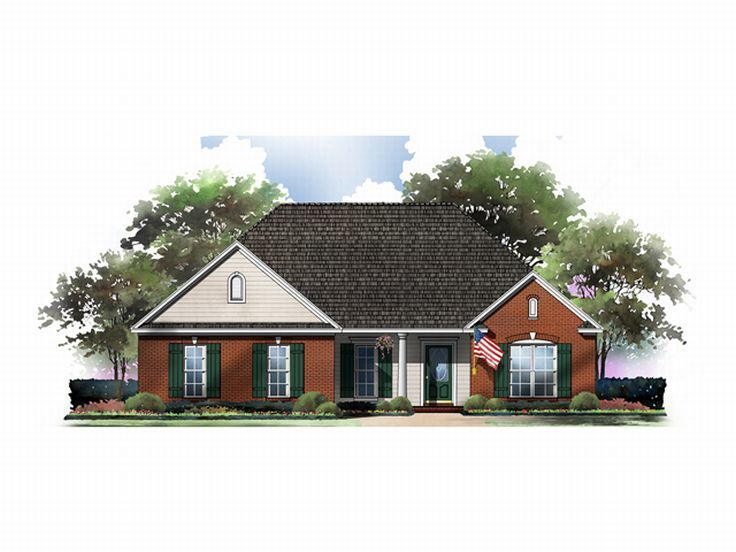 Traditional House Plan, 001H-0033