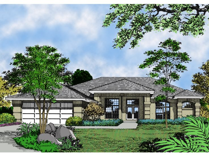 Contemporary House Plan, 043H-0097
