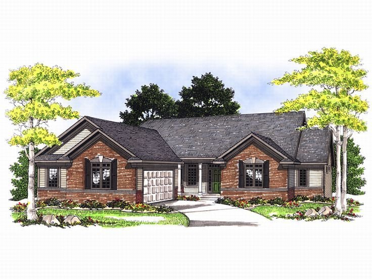 Ranch House Plan, 020H-0060