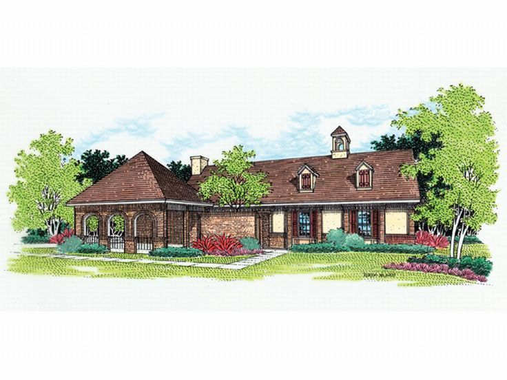Ranch House Design, 021H-0017