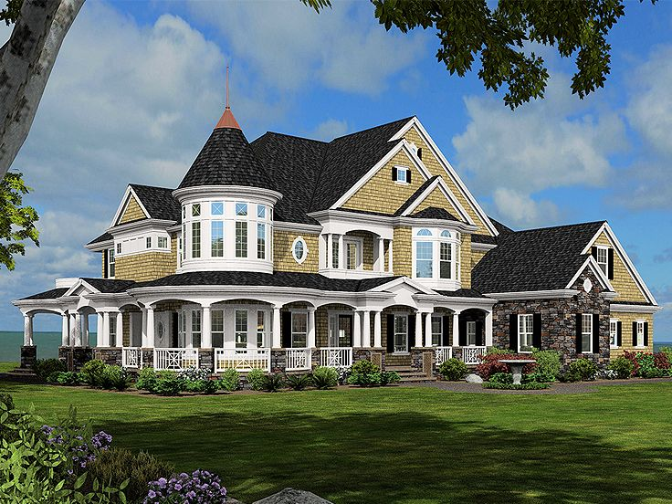 Country Victorian Home, 035H-0095