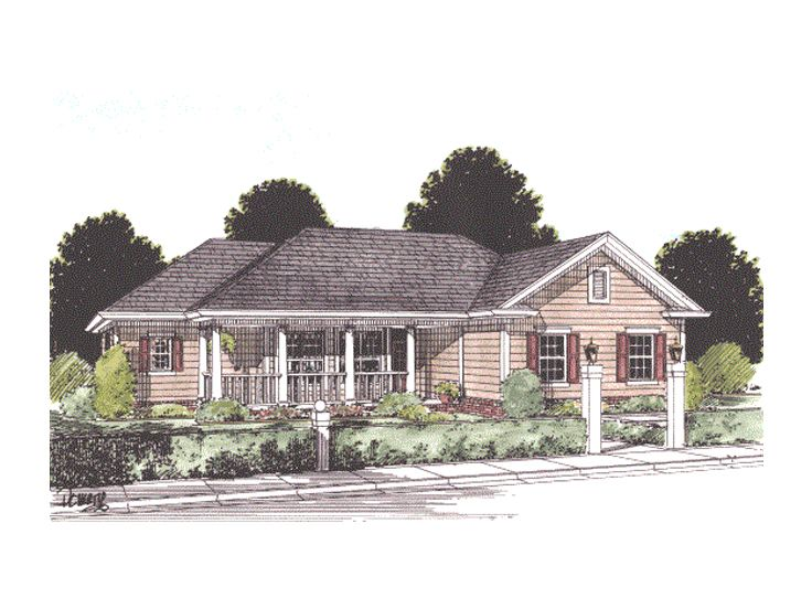 One-Story Home Plan, 059H-0041