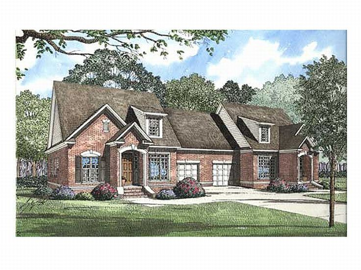 Duplex Home Plan, 025M-0007