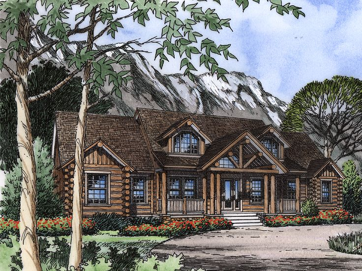 Country Craftsman Home, 043H-0188