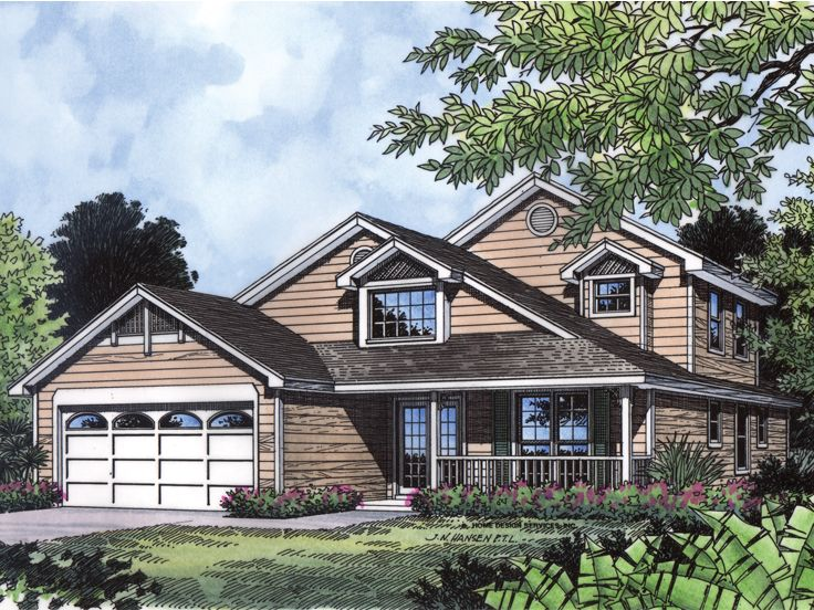 2-Story House Plan, 043H-0047