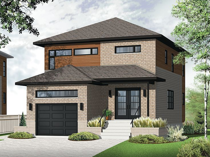 Narrow Lot Home Plan, 027H-0344