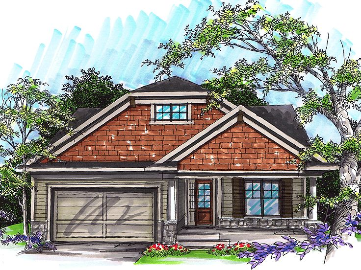 Bungalow Home Design, 020H-0236
