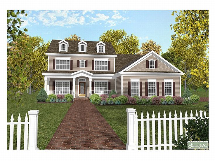 Colonial Home Plan, 007H-0071