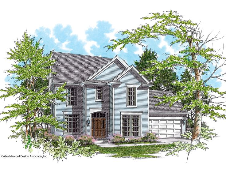 2-Story House Plan, 034H-0093