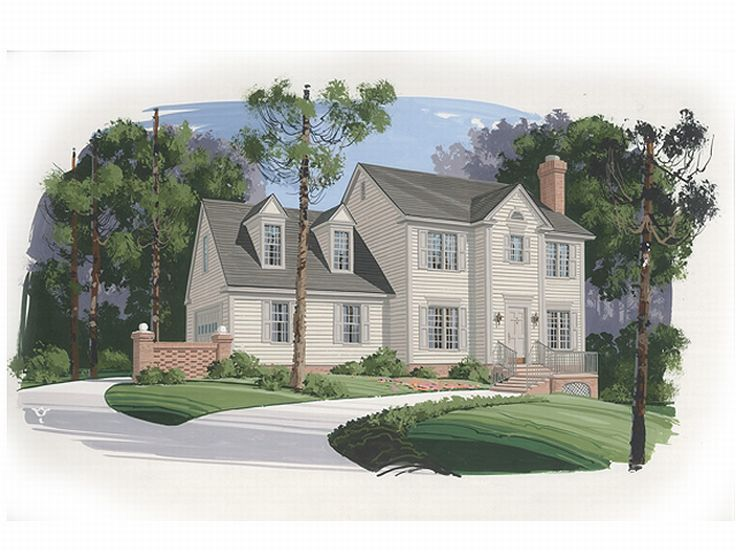 Plan 007h 0024 find unique house plans home plans and for Large cape cod house plans