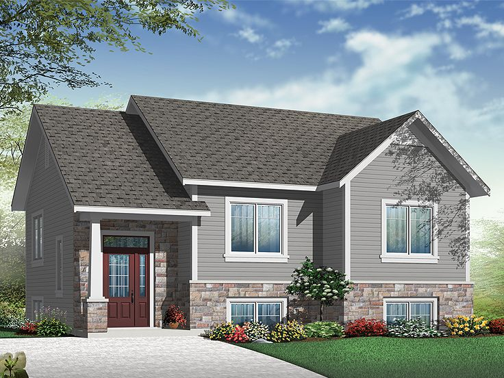 Small House Plans | Small Split-Level Home Plan Fits a ... on square barn house floor plan, 4 family plan, 2 bedroom bungalow floor plan, 12 sq ft floor plan, aspen floor plan, bi-level pool, bi-level breakfast bar, bi homes floor plan,
