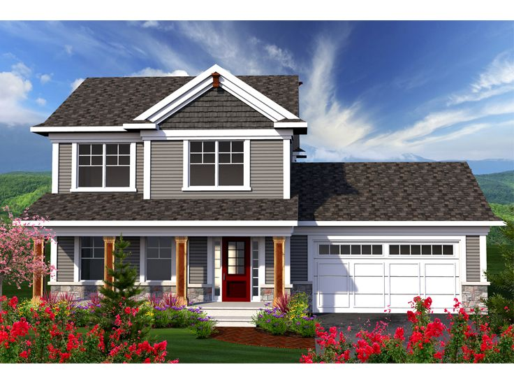 Two story house plans small two story home plan for for Small two story homes