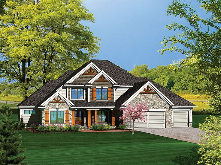 Two-Story House Plan, 020H-0286