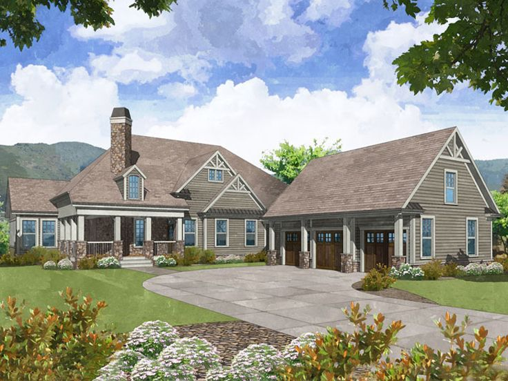 Unique Mountain Home Plan, 053H-0079