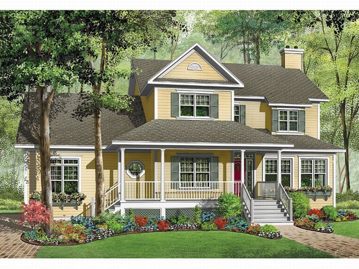 Country Home Plan, 027H-0092