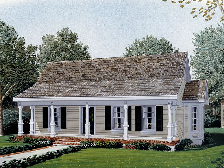 Merveilleux Country Home Plan, 054H 0019