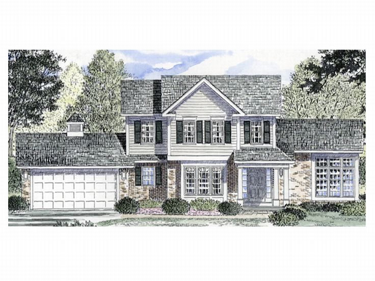 Two-Story House Plan, 014H-0031