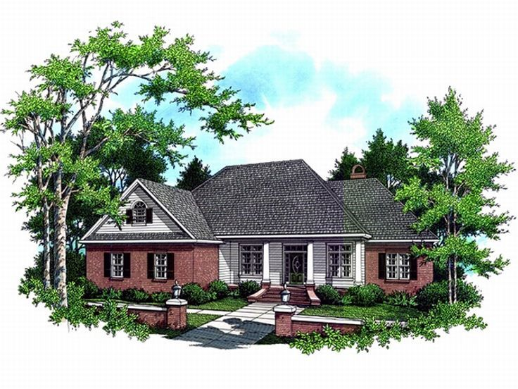 Ranch House Plan, 001H-0106