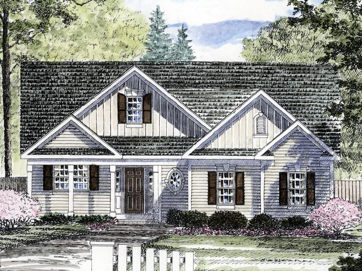 Ranch House Plan, 014H-0069