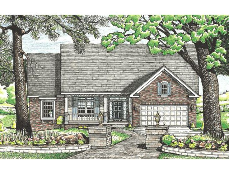 Ranch House Design, 031H-0038