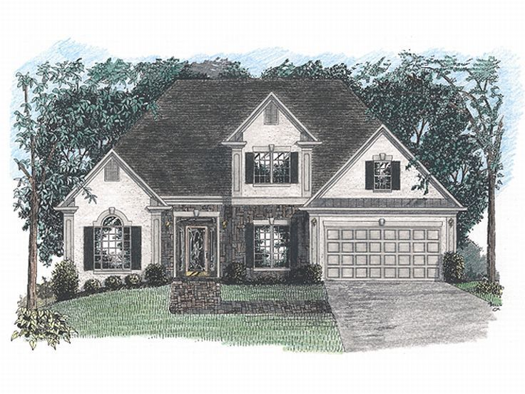 Two-Story House Plan, 007H-0037