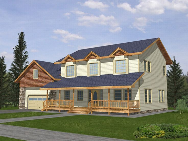 Country House Plan, 012H-0036